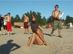 دختر پارتی سکسی در ساحل, برای ضبط runetki